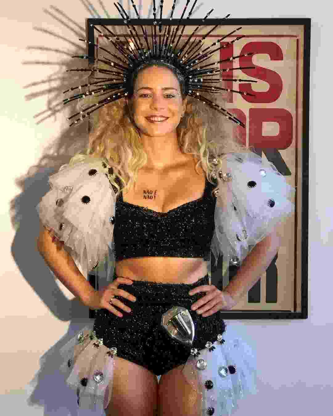 Leandra Leal mostra fantasia para o Cordão da Bola Preta, bloco do Rio - Reprodução/Instagram