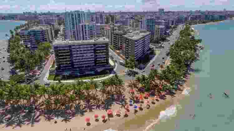 Vista aérea da Praia da Ponta Verde  - Sedetur – Alagoas