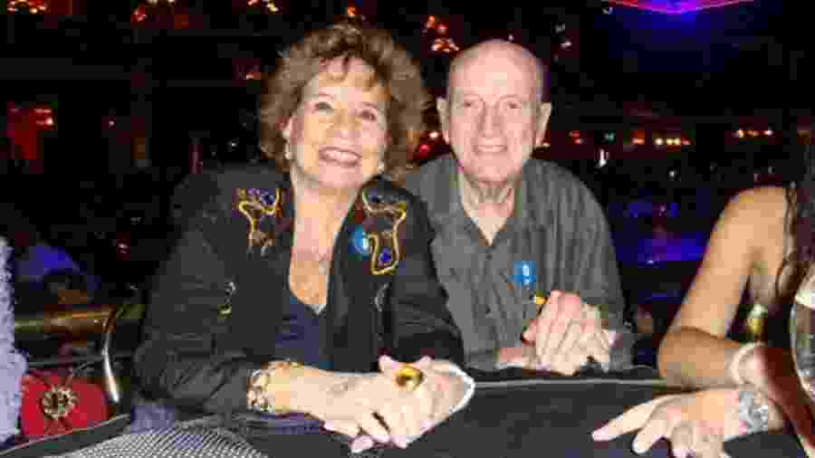 A atriz Daisy Lúcidi e o marido Luiz Mendes (morto em 2011) - Reprodução/Facebook