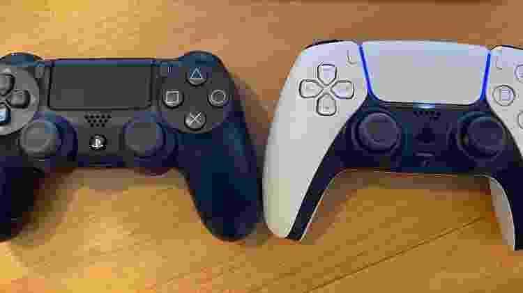 Comparação do controle do PS4 e PS5 - Reprodução - Reprodução