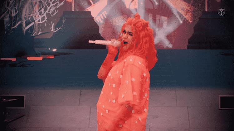 Katy Perry no show do Tomorrowland 2020 - Reprodução - Reprodução