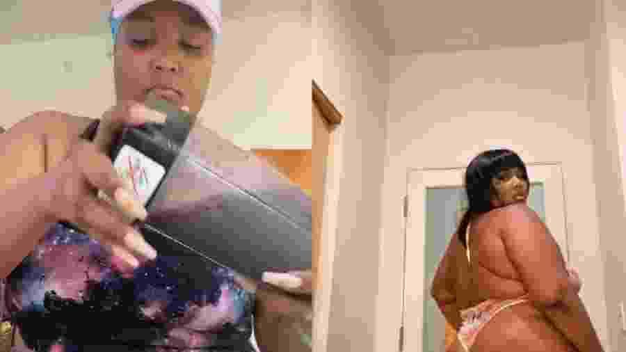 Em vídeo, Lizzo falou sobre relação com o corpo - Reprodução/TikTok