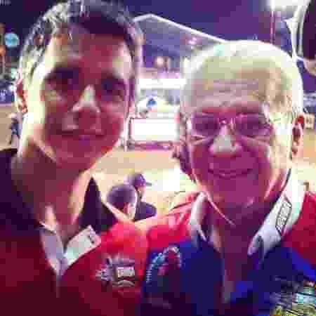Márcio Garcia e o pai, Carlos Alberto Machado Tavares - Reprodução/Instagram @oficialmarciogarcia