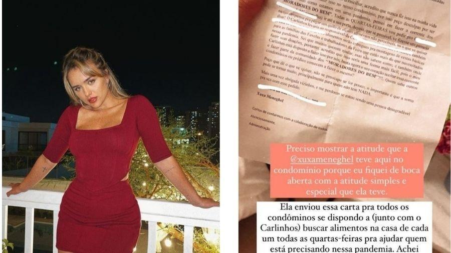 Rafa Kalimann mostra cartinha recebida de Xuxa - Reprodução/Instagram