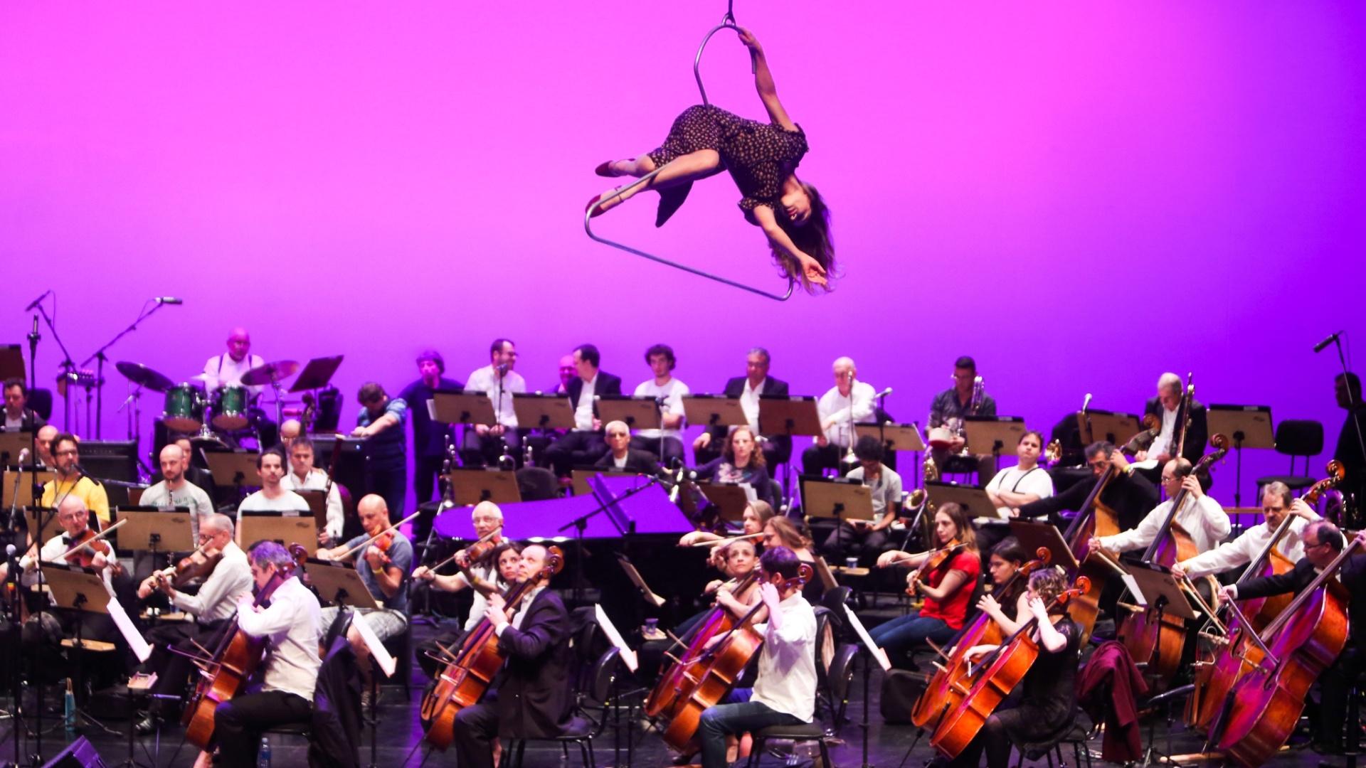 O Orquestra Jazz Sinfônica fez um ensaio geral na tarde desta sexta-feira (20) para o musical