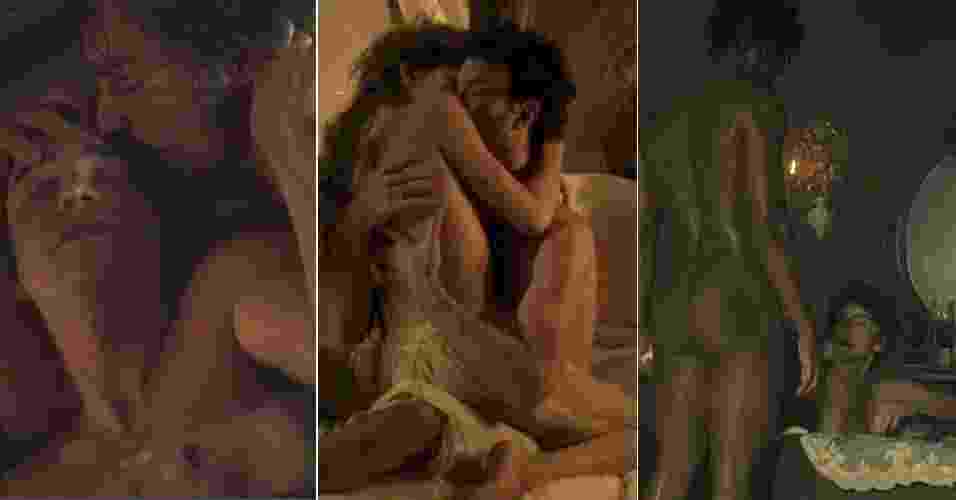 """""""Liberdade, Liberdade"""" termina nesta quinta-feira e o que não faltou na novela foram nudes e cenas quentes com muito sexo: entre dois nomens, entre duas mulheres, ménage, - Reprodução/TV Globo"""