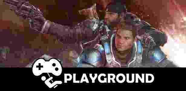 """""""Gears of War 4"""" é um dos jogos que reforçam o bom momento do console da Microsoft - Arte/UOL Jogos"""