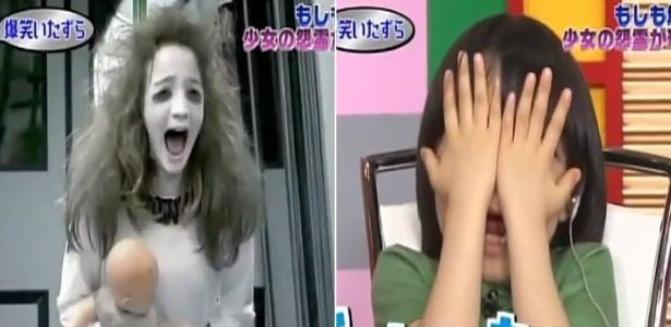 """Pegadinha da """"menina fantasma"""", do SBT, é exibida no Japão e assusta criança - Montagem/Reprodução/YouTube/CamerasEscondidasSBT"""