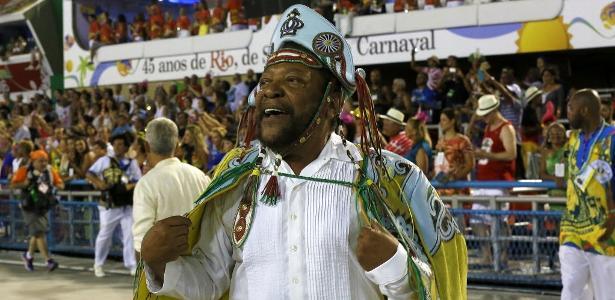 Martinho da Vila na Sapucaí, defendendo a Vila Isabel no desfile das escolas de samba do Grupo Especial do Rio em 2016