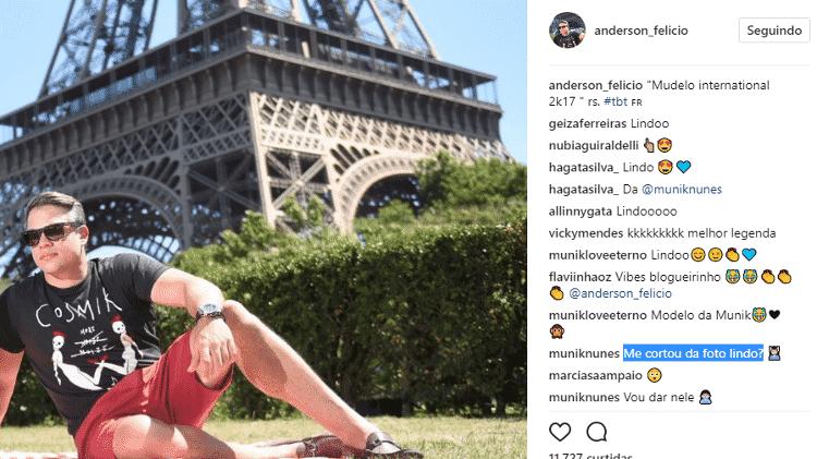 Noivo de Munik corta a ex-BBB de foto - Reprodução/Instagram - Reprodução/Instagram