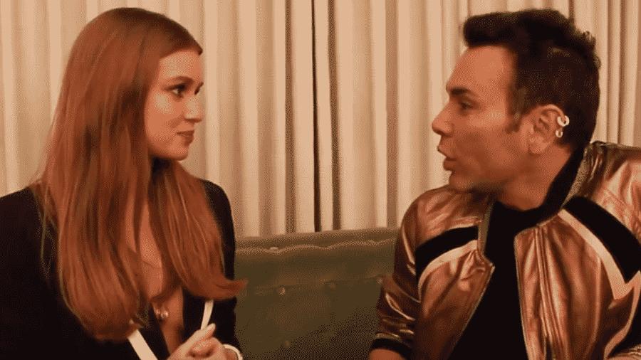 Marina Ruy Barbosa é entrevistada por Matheus Mazzafera - Reprodução/YouTube