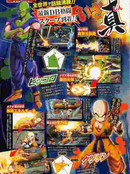 Piccolo e Kuririn estarão no game; personagens surgiram em página de revista japonesa - Reprodução