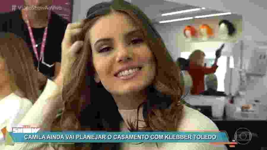 """Camila Queiroz fala sobre noivado com Klebber Toledo no """"Vídeo Show"""" - Reprodução/TV Globo"""
