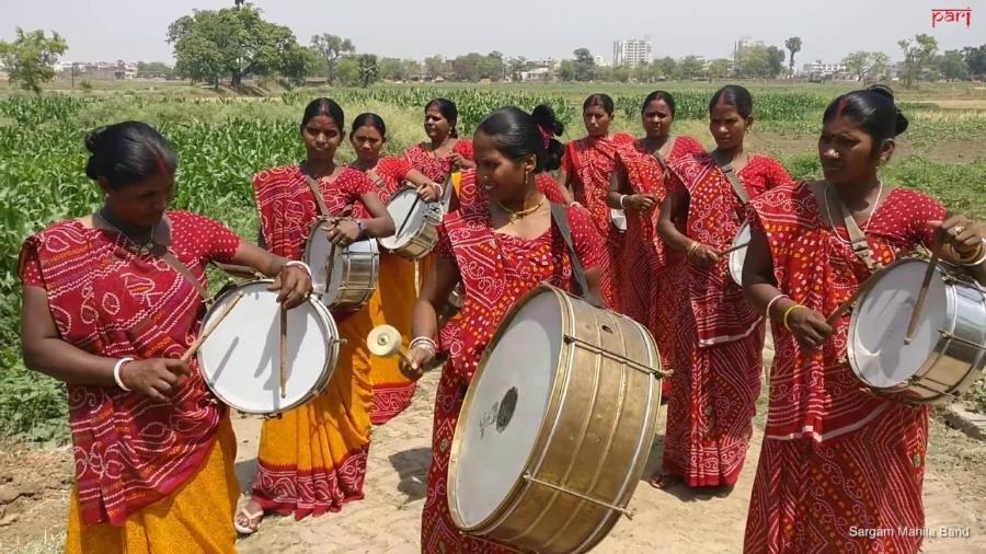 Banda formada por mulheres da casta dalit - Reprodução