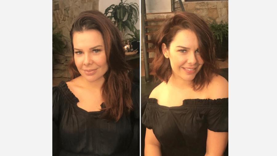 Fernanda Souza antes e depois de mudar o visual - reprodução/Instagram
