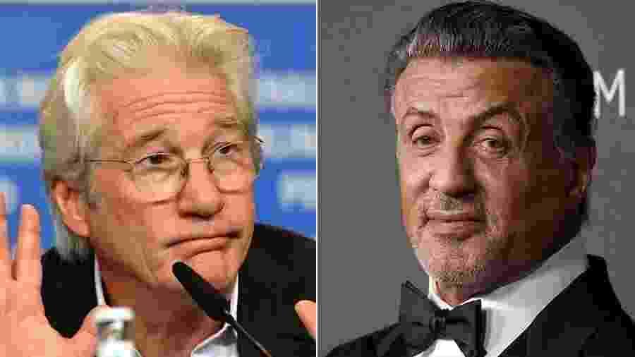 Richard Gere e Stallone não se gostam até hoje... - Getty Images