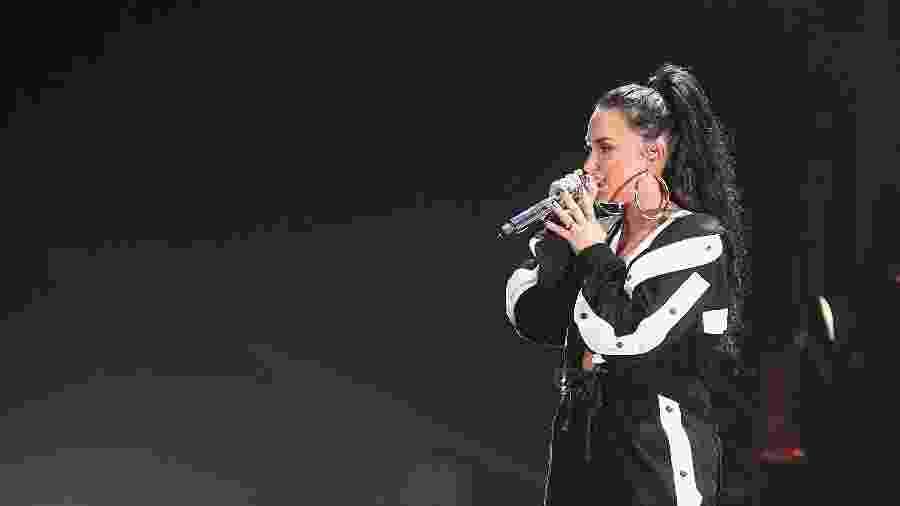 Demi Lovato em show em dezembro de 2017 - Paras Griffin/Getty Image