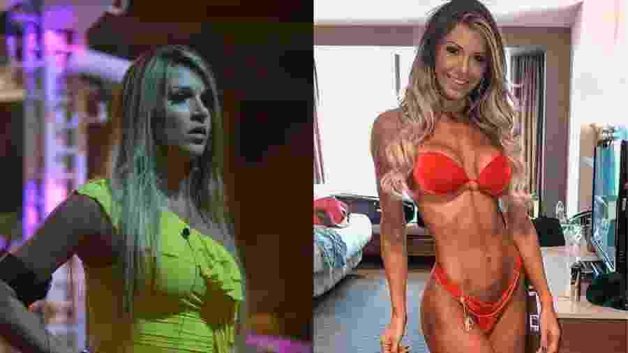 Ex BBB Tatiele Polyana agora é musa fitness - Montagem/UOL