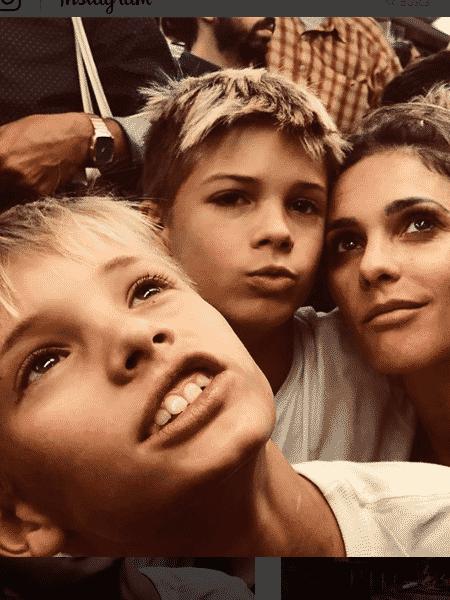 Fernanda Lima com os filhos, João e Francisco - Reprodução/Instagram