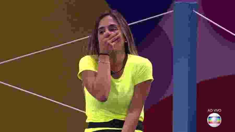 """Carolina é a segunda líder do """"BBB19"""" - Reprodução/TvGlobo"""