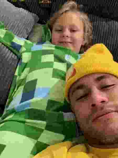 Neymar com o filho, David Lucca - Reprodução/Instagram