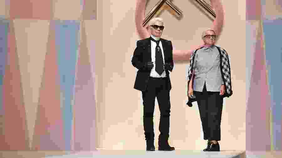 Karl Lagerfeld e Silvia Venturini Fendi - Getty Images