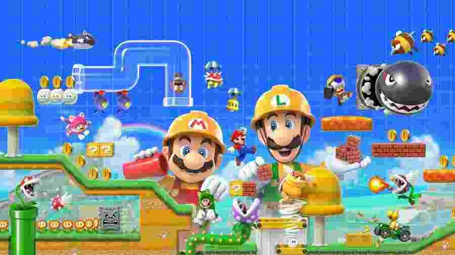 """Modo história, novas ferramentas e vários recursos de mutiplayer estão em """"Super Mario Maker 2"""" - Divulgação"""
