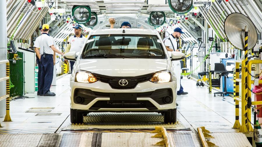 Linha de produção da Toyota em Sorocaba (SP) - Divulgação