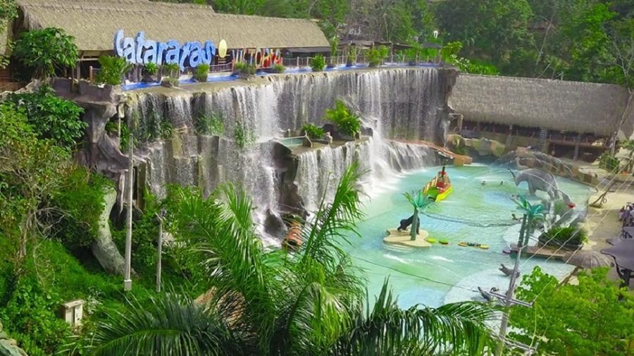 Parque aquático é uma das atrações atuais da Hacienda Nápoles, na Colômbia - Divulgação/Parque Temático Hacienda Nápoles