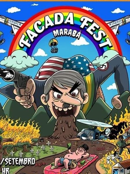 Cartaz do Facada Fest, no PA, divulgado em 2019 - Reprodução/Facebook