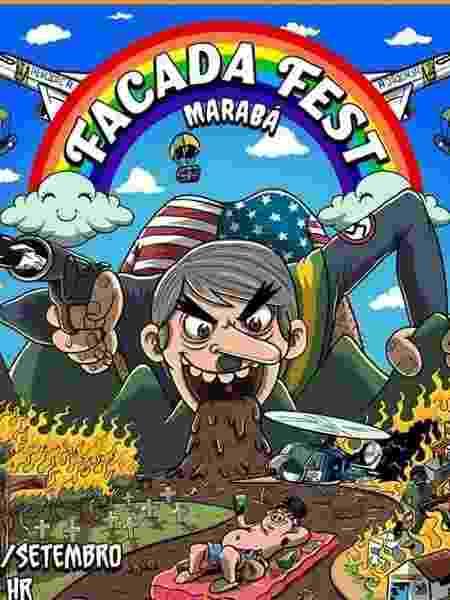 Cartaz mais recente do Facada Fest, no PA - Reprodução/Facebook
