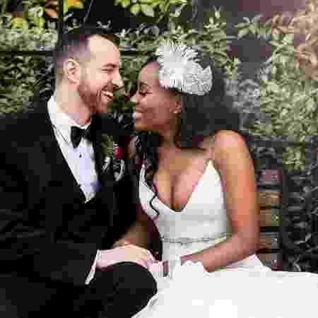 """Cameron e Lauren, participantes do """"Casamento às Cegas"""" - Instagram/Reprodução"""