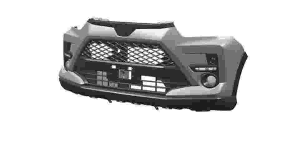 Toyota registrou itens como o para-choque dianteiro do Daihatsu Rocky, que é a base para o novo SUV a ser fabricado em SP - Reprodução