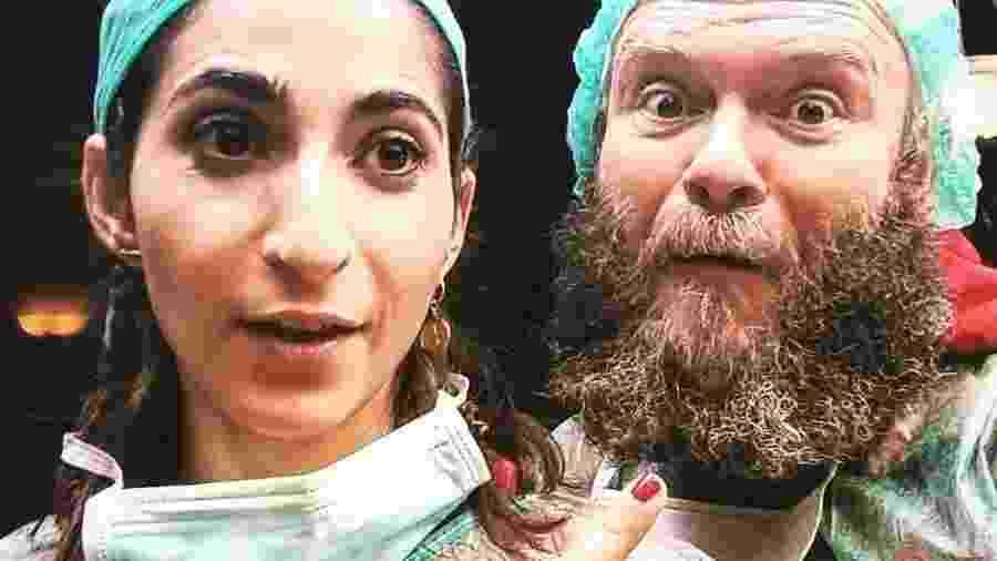 Darko Peric e Alba Flores, de La Casa de Papel, fazem homenagem aos profissionais da área da saúde - Reprodução/Instagram