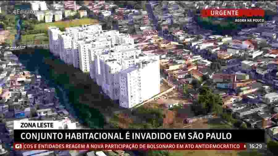 Manifestantes que ocuparam o local mostraram resistência diante da PM, quebrando janelas e efetuando disparos - Reprodução/Globo News