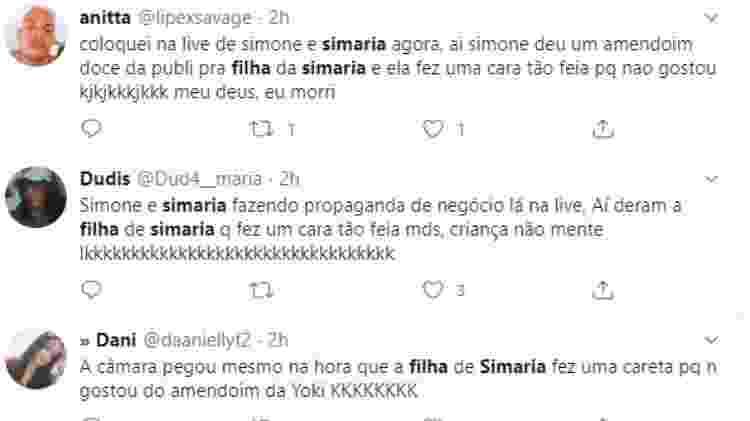 filkha simaria twitter - Reprodução/Twitter - Reprodução/Twitter