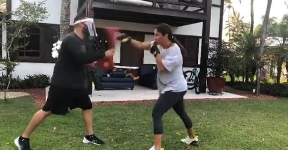 Ivete mostrou treino em publicação no Instagram