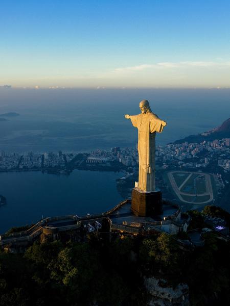 O Cristo Redentor comemora 90 anos em outubro de 2021 - Carl de Souza/AFP