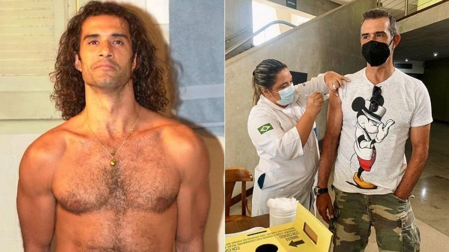Marcos Pasquim brinca com matéria que lamentou ele estar sem camisa em dia de vacina da covid-19 - Reprodução/Instagram