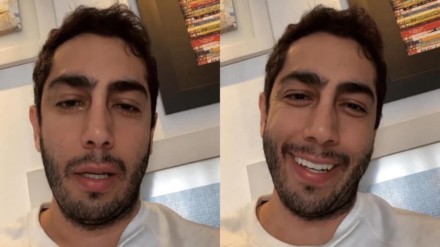Jonathan Nemer chorou ao contar para os seguidores que mãe se alimentou sozinha - Reprodução/Instagram