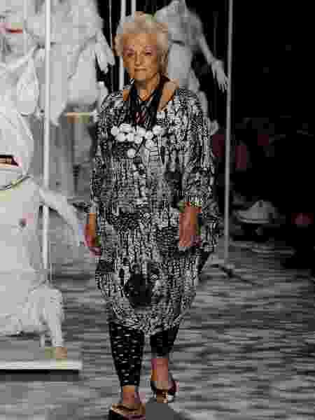Andrea Navarro, atriz, 85 anos, de São Paulo (SP) desfile SPFW - Marcelo Soubhia/Marcelo Soubhia/Ag. Fotosite - Marcelo Soubhia/Marcelo Soubhia/Ag. Fotosite