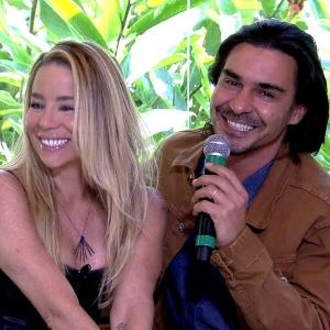 """Dani Winits e André Gonçalves falam sobre o namoro a jato no """"Mais Você"""" - Reprodução/TV Globo"""