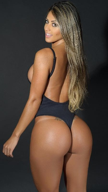 A modelo Ramoni Machado deixou a competição por estar grávida  - Vanessa Dalceno/MBB7/Divulgação