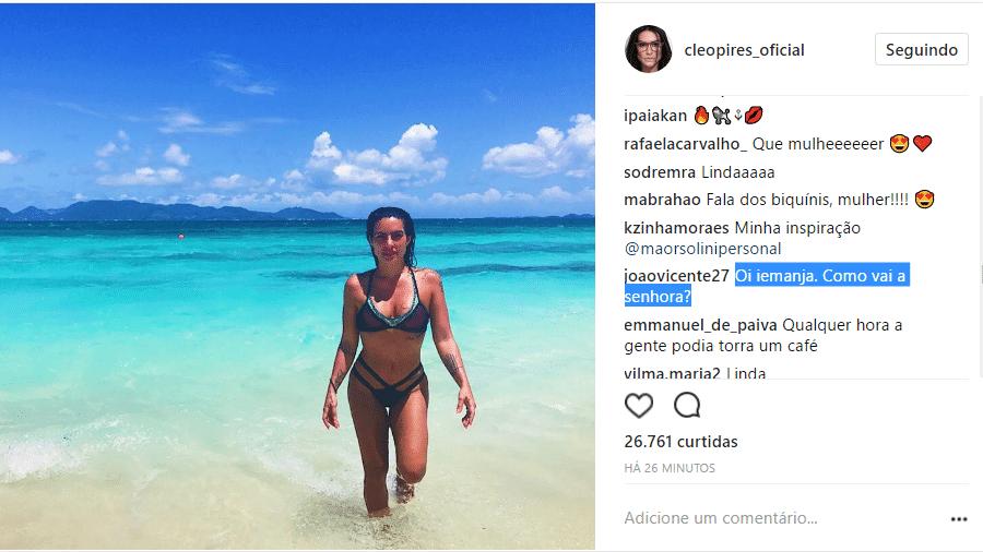 O post de Cleo Pires e o elogio do ex - Reprodução/Instagram