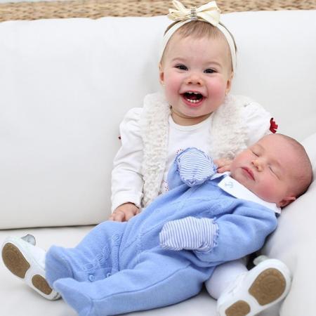 Melinda e Teodoro, filhos de Thais Fersoza e Michel Teló - Reprodução/Instagram