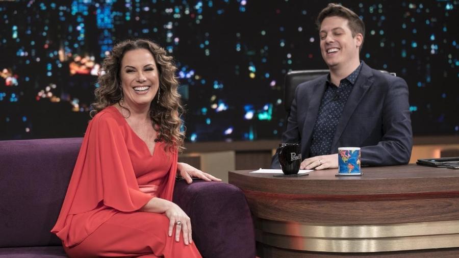 "Regina Volpato no ""Programa do Porchat"" - Antonio Chahestian/RecordTV"