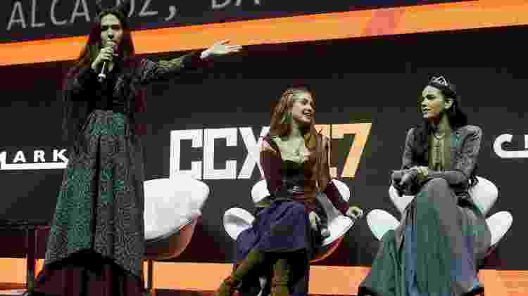 Tatá Werneck, Marina Ruy Barbosa e Bruna Marquezine apresentam nova novela na CCXP - Francisco Cepeda/AgNews - Francisco Cepeda/AgNews