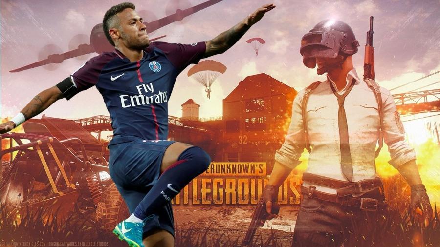 """Neymar tem uma nova obsessão: PlayerUnknown""""s Battleground - Montagem/Reprodução"""