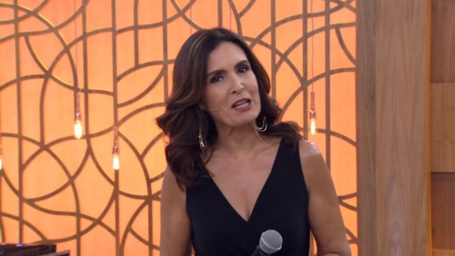 """Fátima Bernardes falou sobre o namoro durante o """"Encontro"""" - Reprodução/TV Globo"""