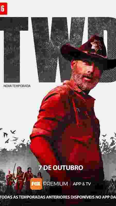 """Cartaz oficial da 9ª temporada de """"The Walking Dead"""" - Divulgação - Divulgação"""